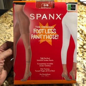 Spank footless pantyhose
